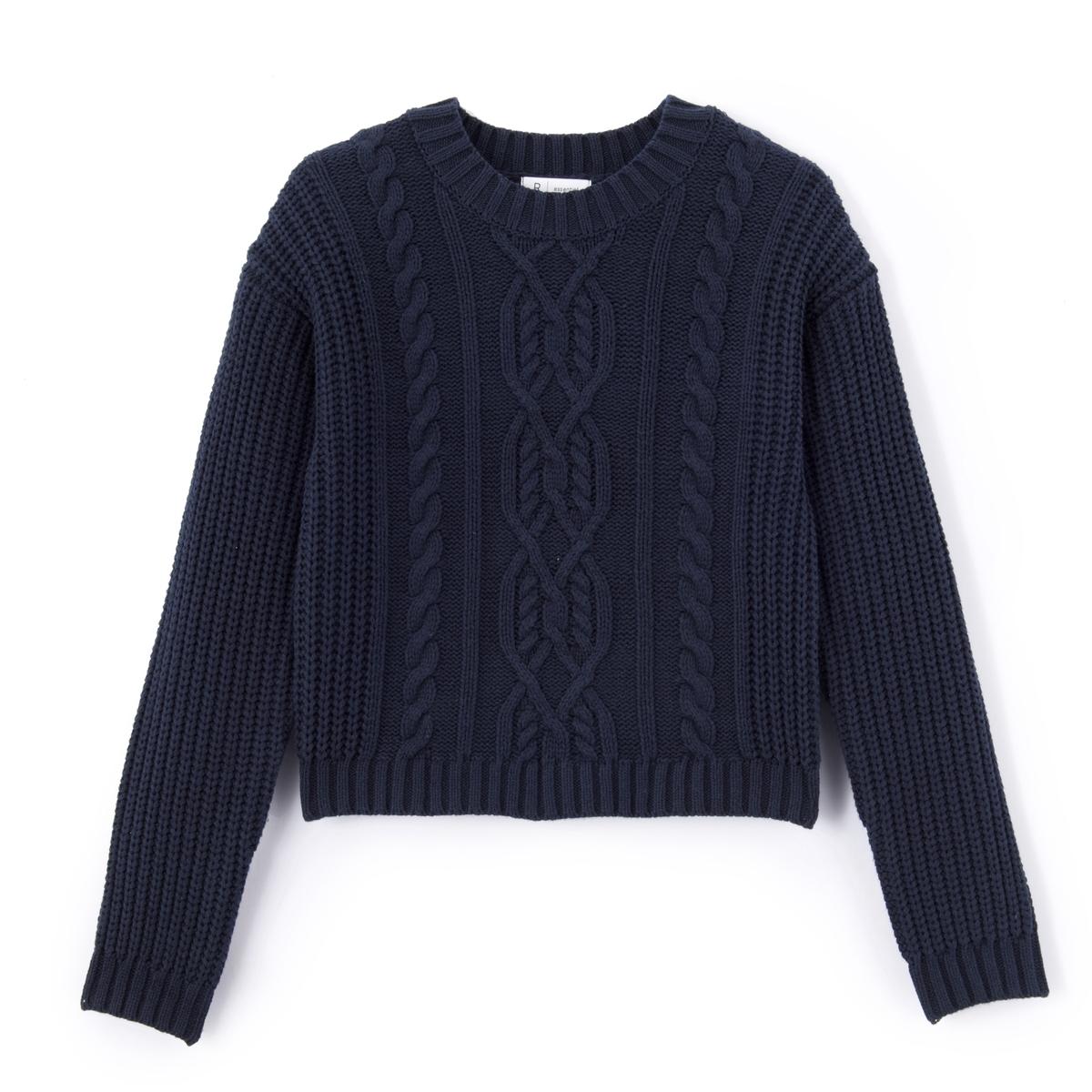 Пуловер с узором косы, 10-16 лет от La Redoute Collections