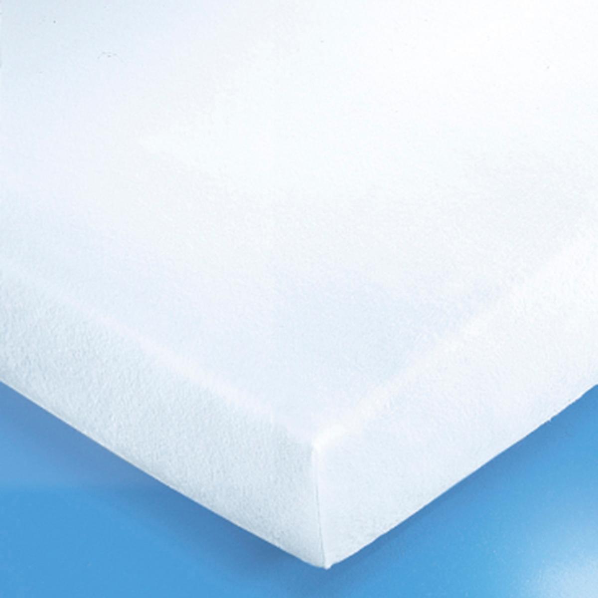 Чехол защитный на матрас из мольтона 220 г/м?Надежная защита для Ваших постельных принадлежностей и уникальный комфорт для Вас: этот чехол поглощает потоотделения, выделение которых неизбежно во время сна, и защищает подушки и одеяла от появления разводов, скапливания бактерий и клещей.Очень удобный и прочный защитный чехол в виде простыни из нежного мольтона, 100% хлопок, (начес с двух сторон). Стирка при 95°С для идеальной гигиены, обработка от усадки ткани SANFOR. Изделие с биоцидной обработкой.Резинка на 4 углах.Качество VALEUR S?RE.<br><br>Цвет: белый<br>Размер: 140 x 200 см