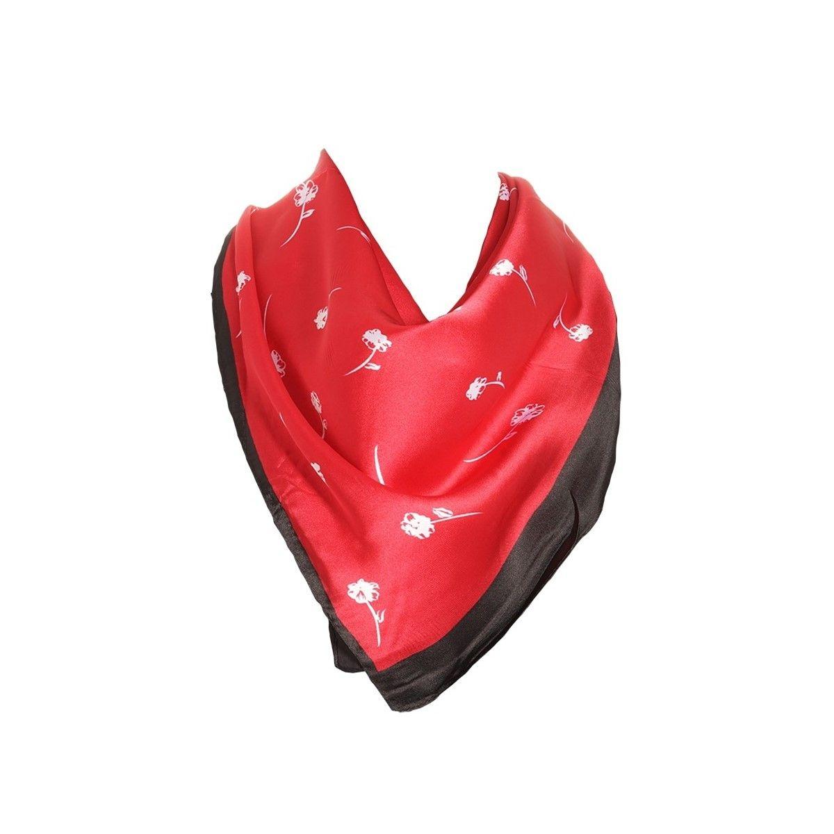 Foulard motif Rouge avec sa pochette cadeau