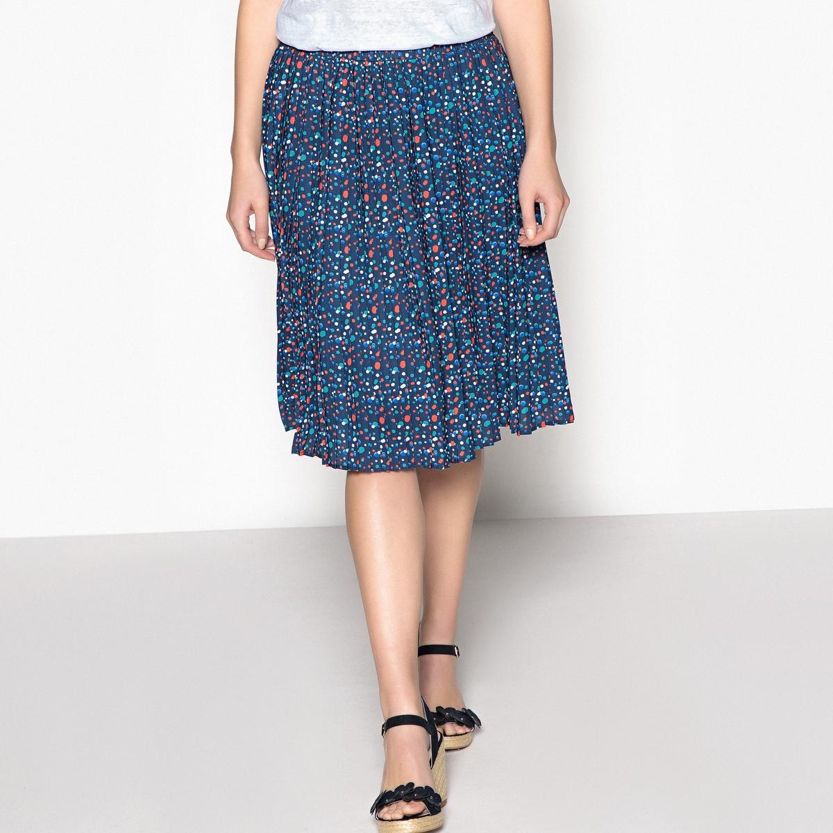Imagen secundaria de producto de Falda plisada estampada, semilarga - Anne weyburn