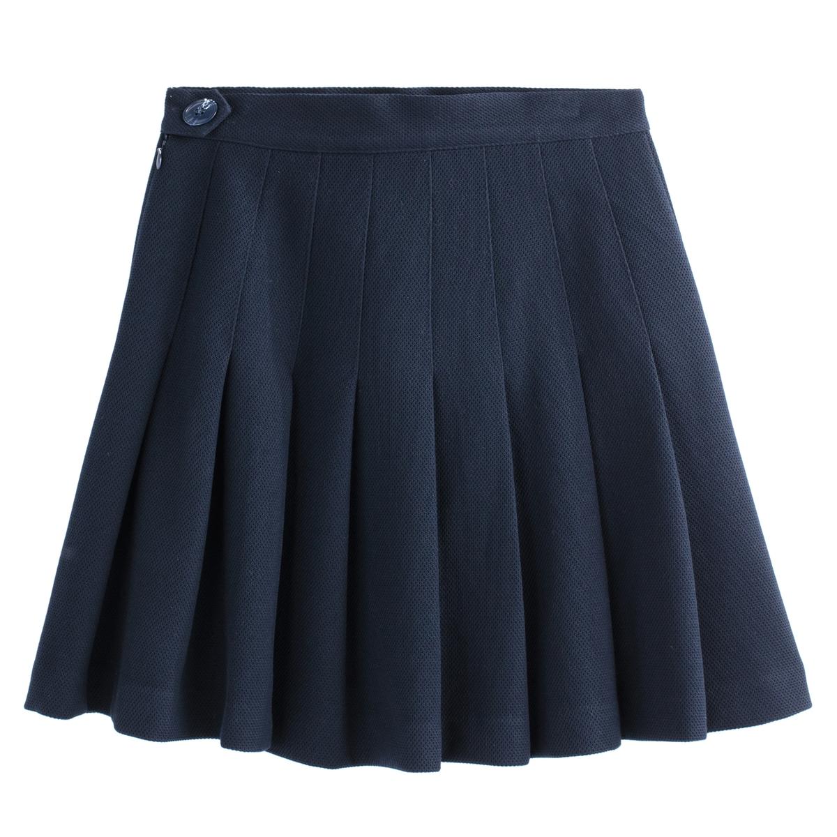 Falda plisada corta