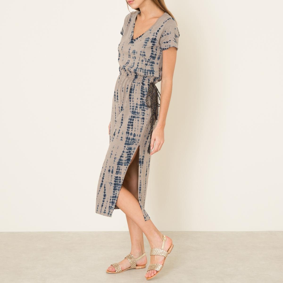 Платье RENATA SHIBORIСостав и описание    Материал: 100% органический хлопок   Длина: ок. 124 см. для размера 36   Марка: LEON AND HARPER<br><br>Цвет: синий<br>Размер: XS