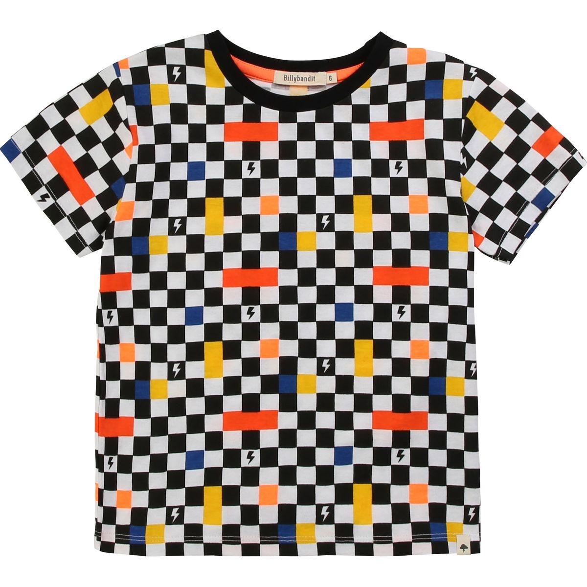 T-shirt jersey coton à damier