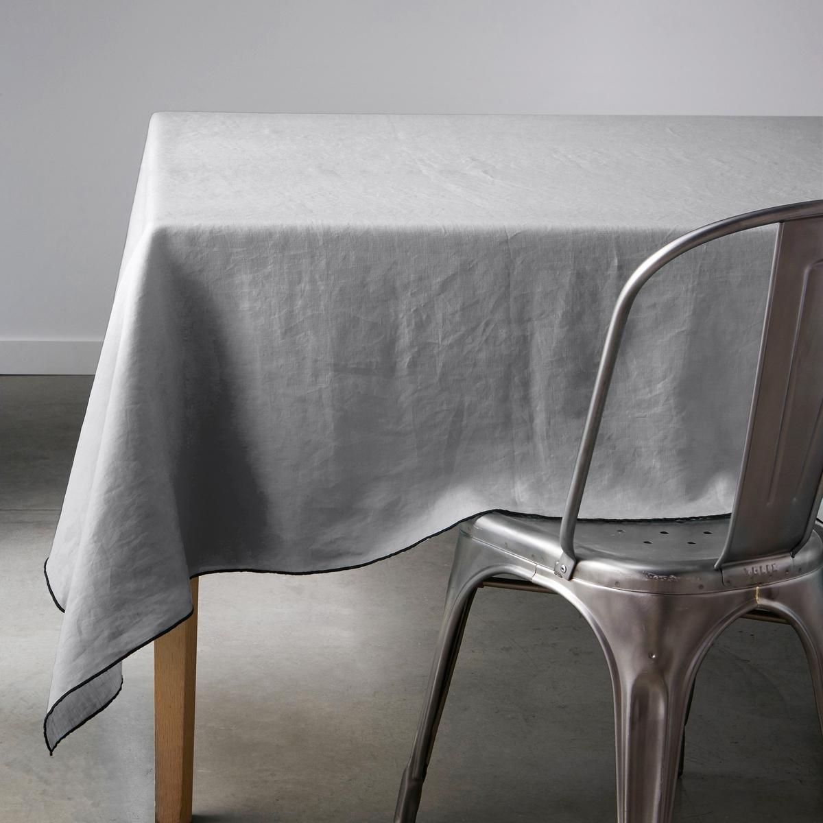 Скатерть LaRedoute Из 100 льна Suzy 180 x 250 см серый