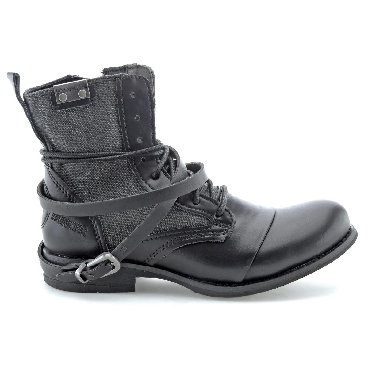 Ботильоны SaraВерх : синтетика   Подкладка : кожа   Стелька : кожа   Подошва : эластомер   Высота каблука : 2,5 см   Форма каблука : плоский каблук   Мысок : закругленный мысок  Застежка : молния<br><br>Цвет: черный<br>Размер: 37