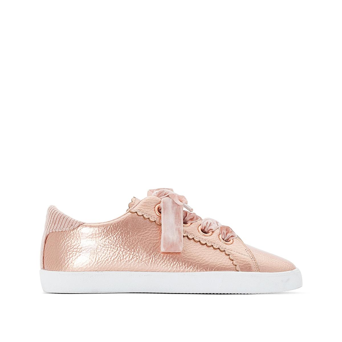 Кеды на шнуровке из розового текстиля, на широкую стопу 38-45 балетки на шнуровке