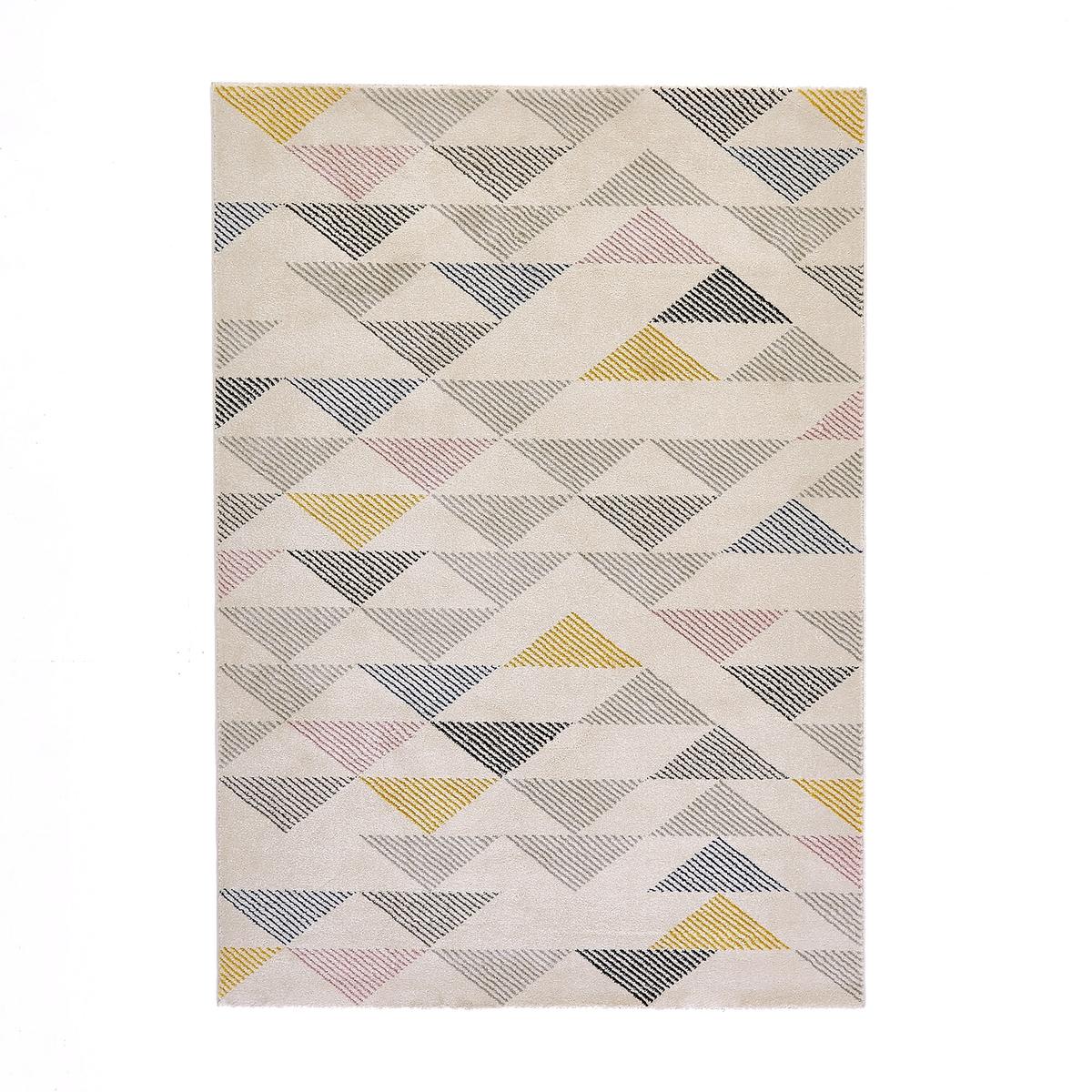 Ковер La Redoute С рисунком треугольники Jursic 120 x 170 см разноцветный ковер la redoute горизонтального плетения с рисунком цементная плитка iswik 120 x 170 см бежевый