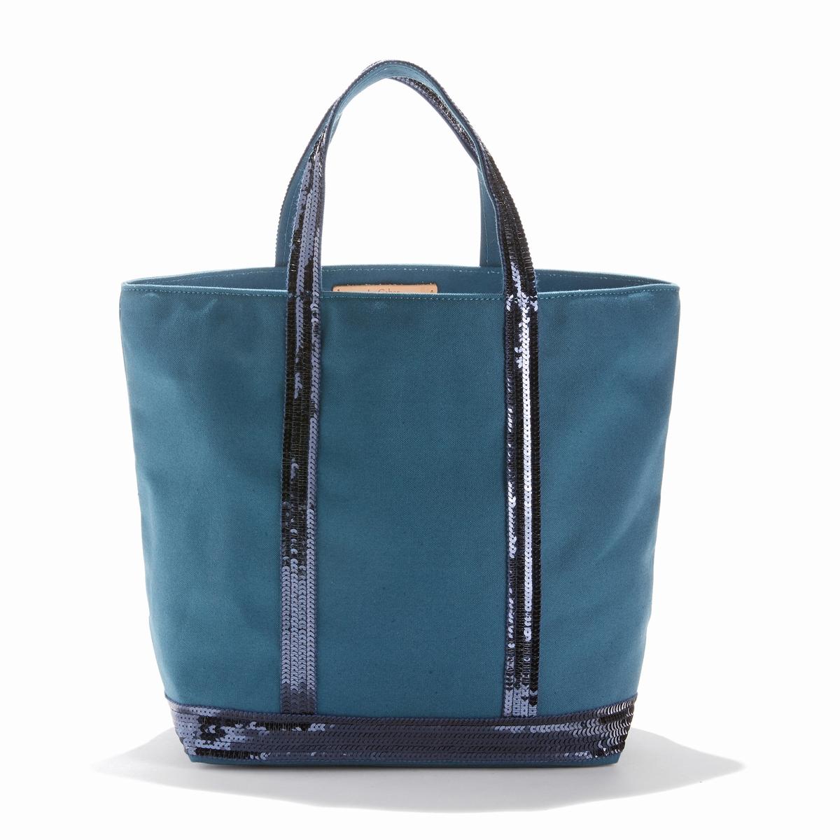 Сумка-шоппер среднего размера из ткани с блестками