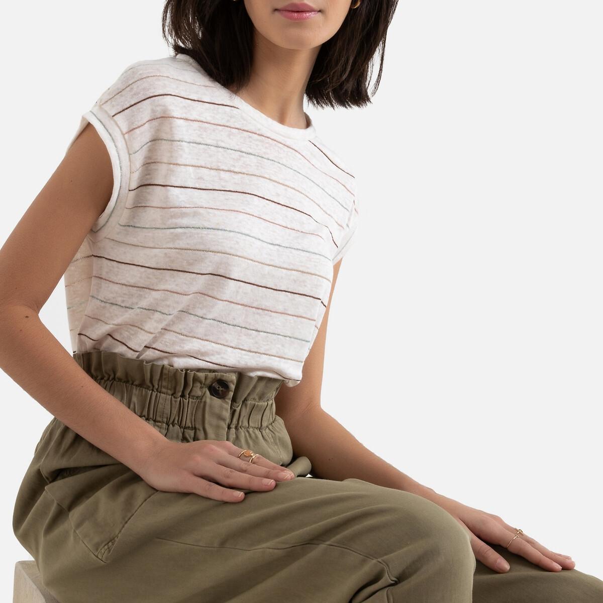 Camiseta a rayas de manga corta