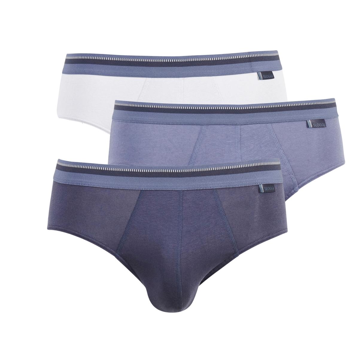 3 трусов-слипов для мужчинТрусы-слипы SLOGGI MEN URBAN от TRIUMPH : невероятно удобные и комфортные !95% хлопка, 5% эластана. Эластичный пояс с название марки TRIUMPH.Машинная стрика при 30°, комплект из 3.<br><br>Цвет: серый + синий + темно-синий