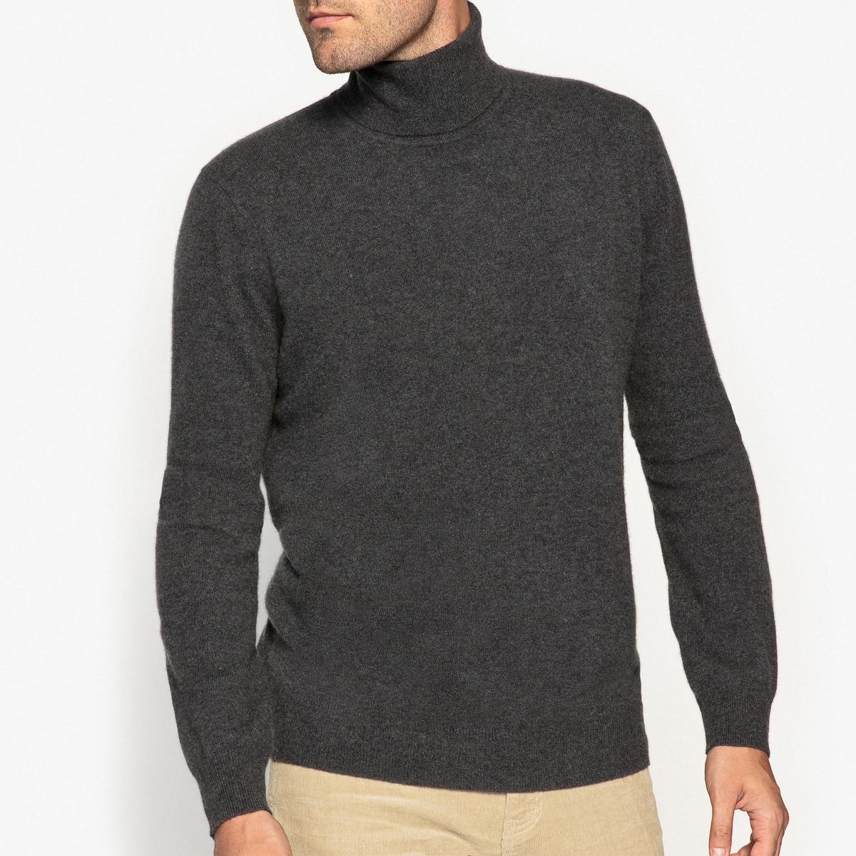 Пуловер с высоким воротником, 100% кашемираСостав и описаниеМатериал: 100% кашемира.Длина: 66 см.Марка: R essentiel.<br><br>Цвет: темно-серый меланж,темно-синий,черный<br>Размер: S