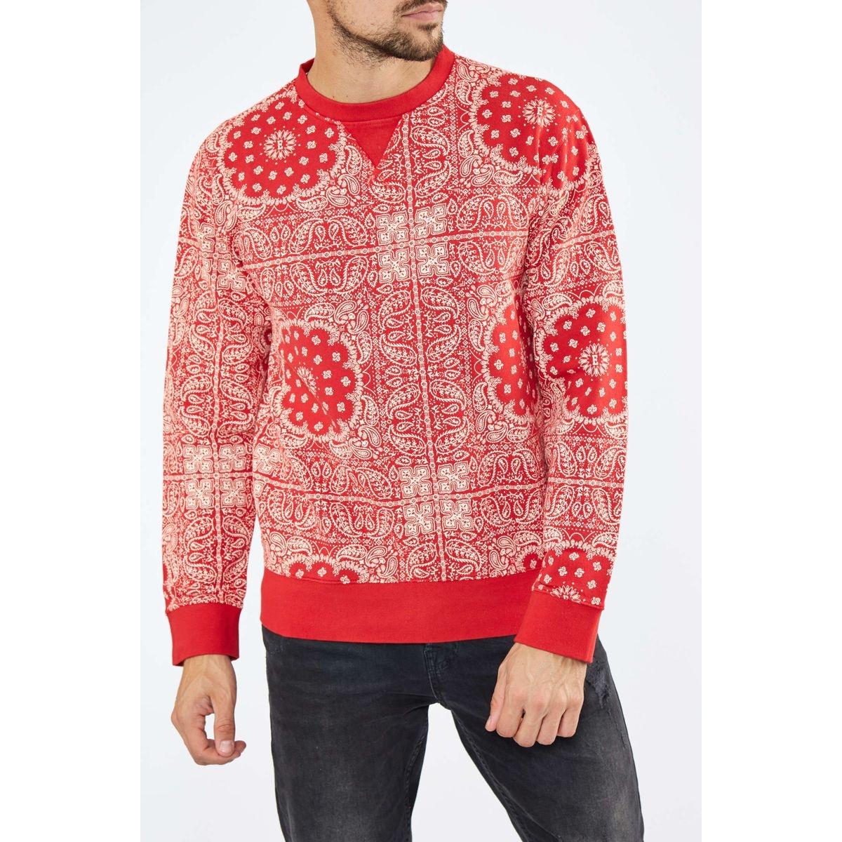 Sweat Shirt Edwin Bandana Rouge Homme