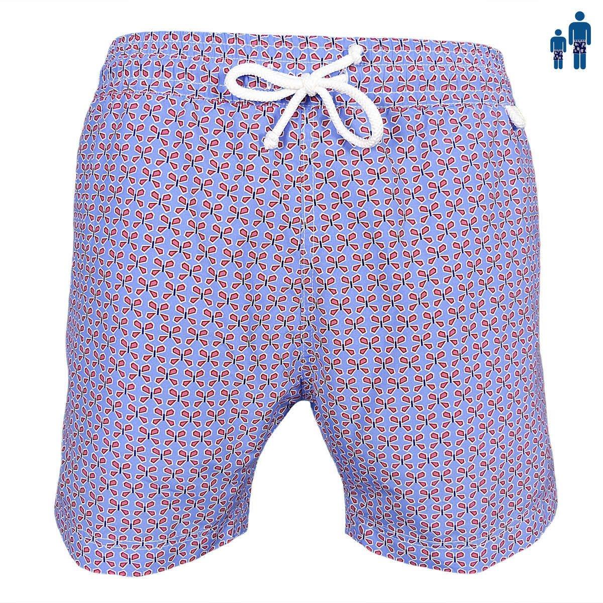 Montauk - Trèfle rouge Maillot Short de bain homme classic fit violet lilas