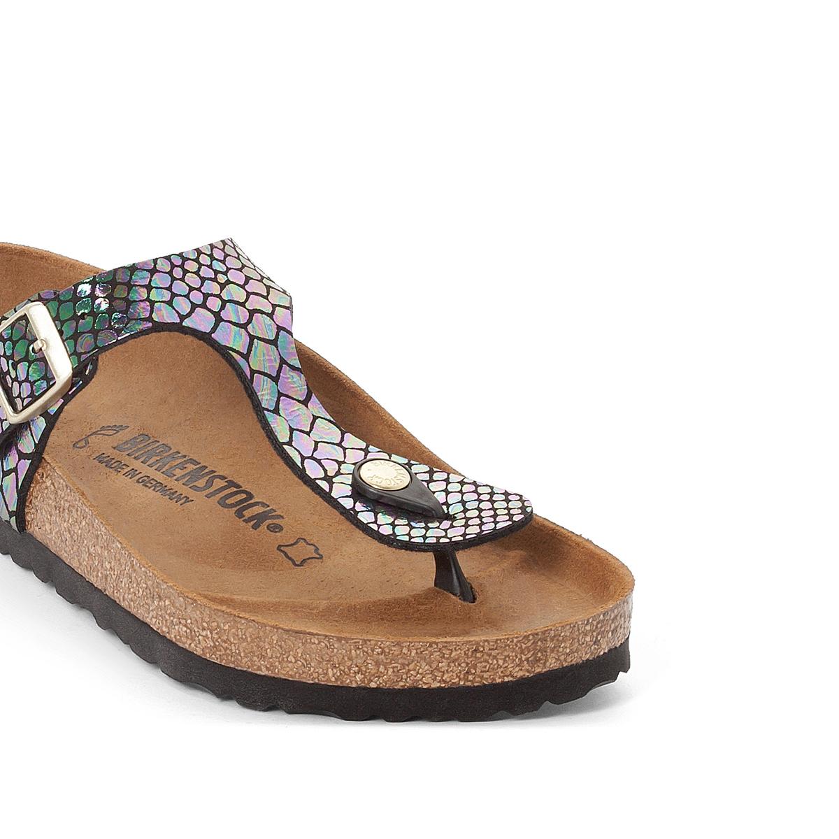 Туфли без задника синтетическиеДетали  •  Вьетнамки •  Застежка : без застежки •  Открытый мысокСостав и уход  •  Верх 100% синтетический материал •  Подкладка 100% текстиль •  Стелька 100% кожа •  Подошва 100% ЭВА<br><br>Цвет: рисунок разноцветный