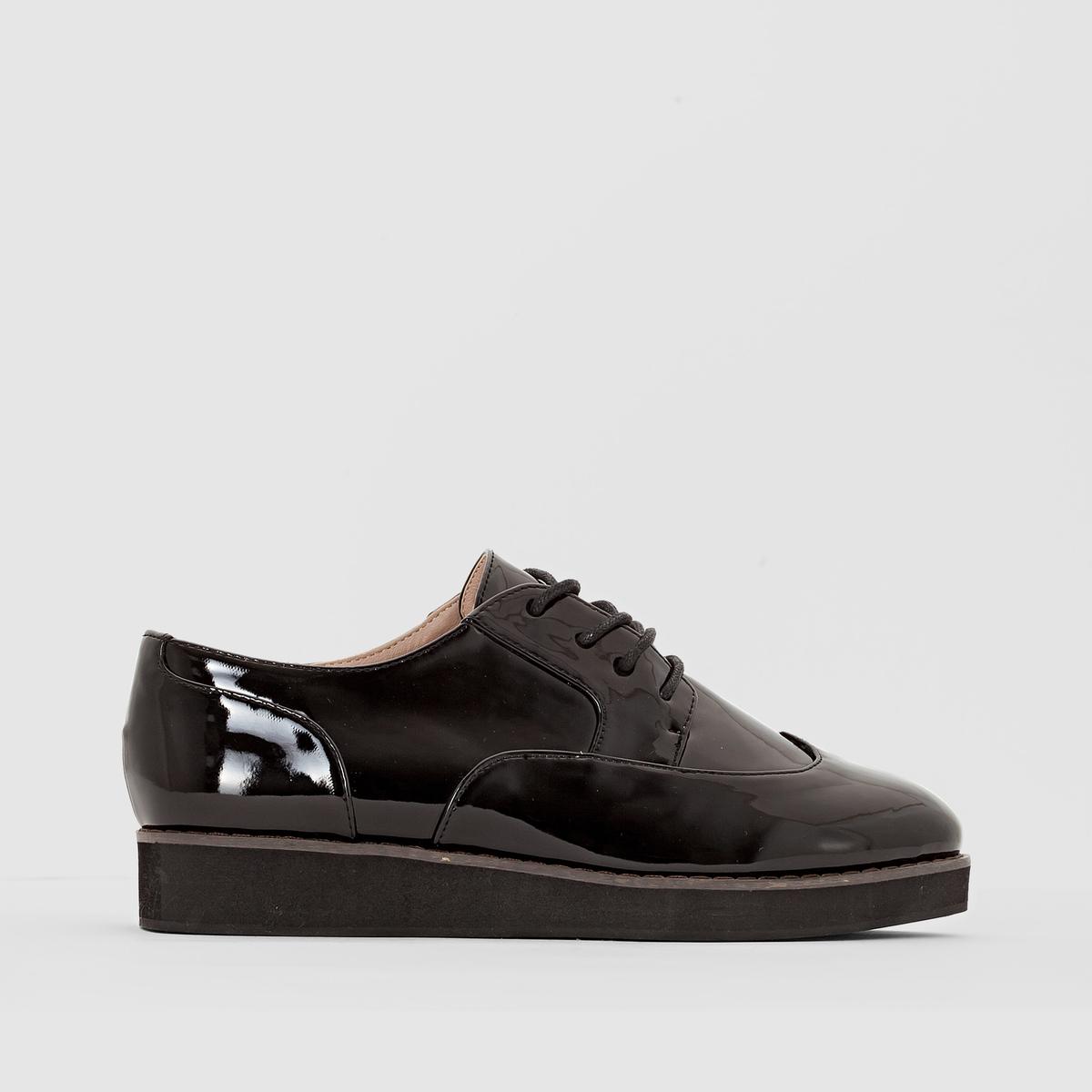 Ботинки-дерби синтетические, размер 38-45 ботинки дерби под кожу питона