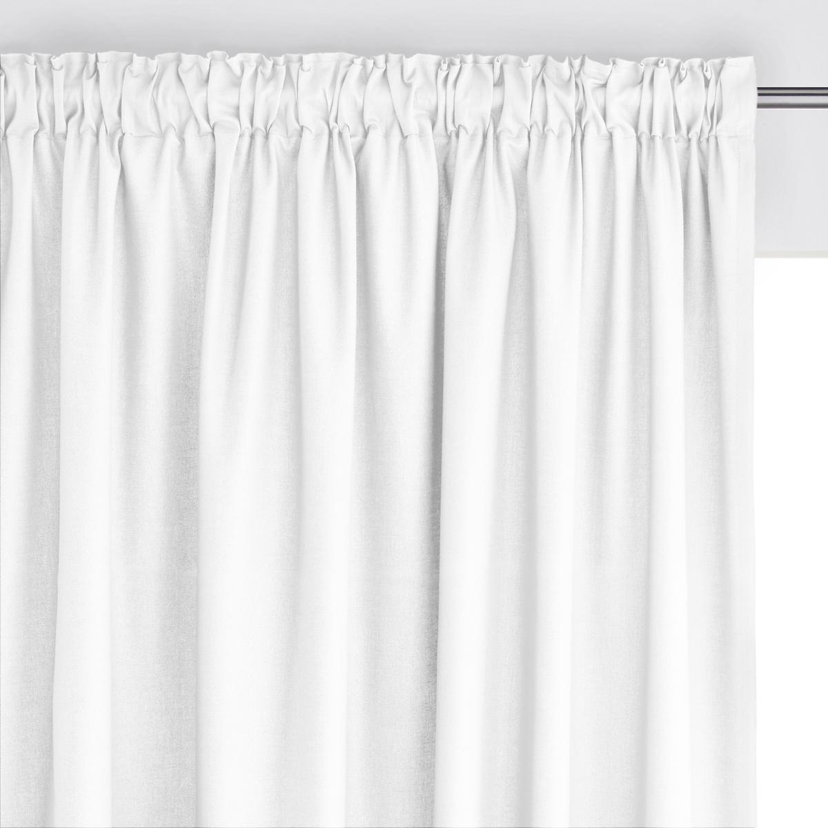Штора 100% хлопка с отделкой тесьмойШтора из красивой и очень прочной ткани 100% хлопка (220г/м?) .               Отделка тесьмой со складками, низ с перекидным швом (продается с термоклейкой лентой для создание подрубленного края).Гамма штор сочетается с коллекцией декора SCENARIO  .Крючок для крепления в комплекте                            Машинная стирка при 40 °С. Отличная стойкость цветов при стирке и на свету .                                                                      Производство осуществляется с учетом стандартов по защите окружающей среды и здоровья человека, что подтверждено сертификатом Oeko-tex®.<br><br>Цвет: белый,бледно-зеленый,вишневый,медовый,серо-коричневый,серый жемчужный,темно-серый,темно-синий<br>Размер: 180 x 135  см.260 x 135 см.180 x 135  см.260 x 135 см.350 x 135  см