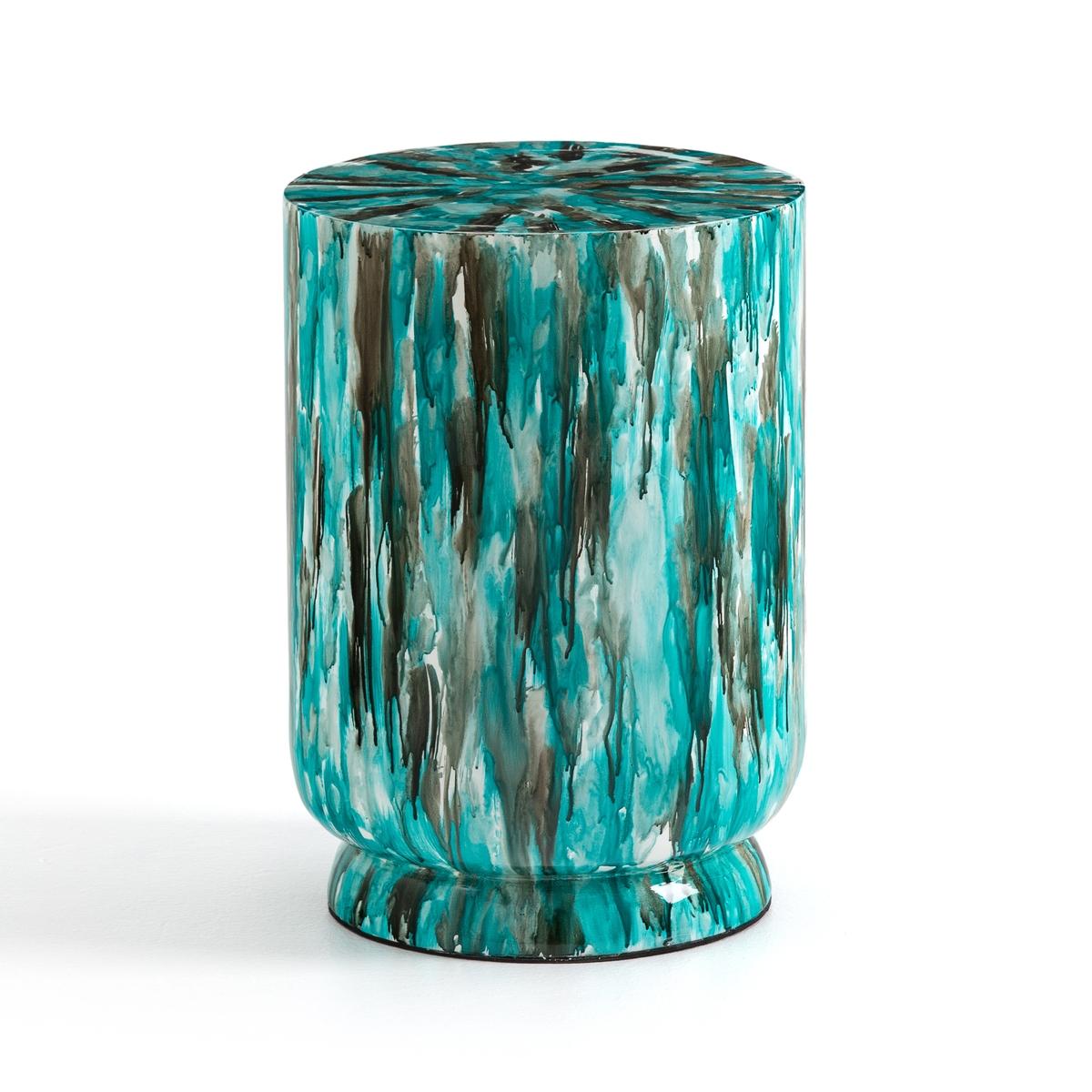 Журнальный La Redoute Столик из лакированного бамбука Rilke единый размер синий столик диванный из бамбука quesada