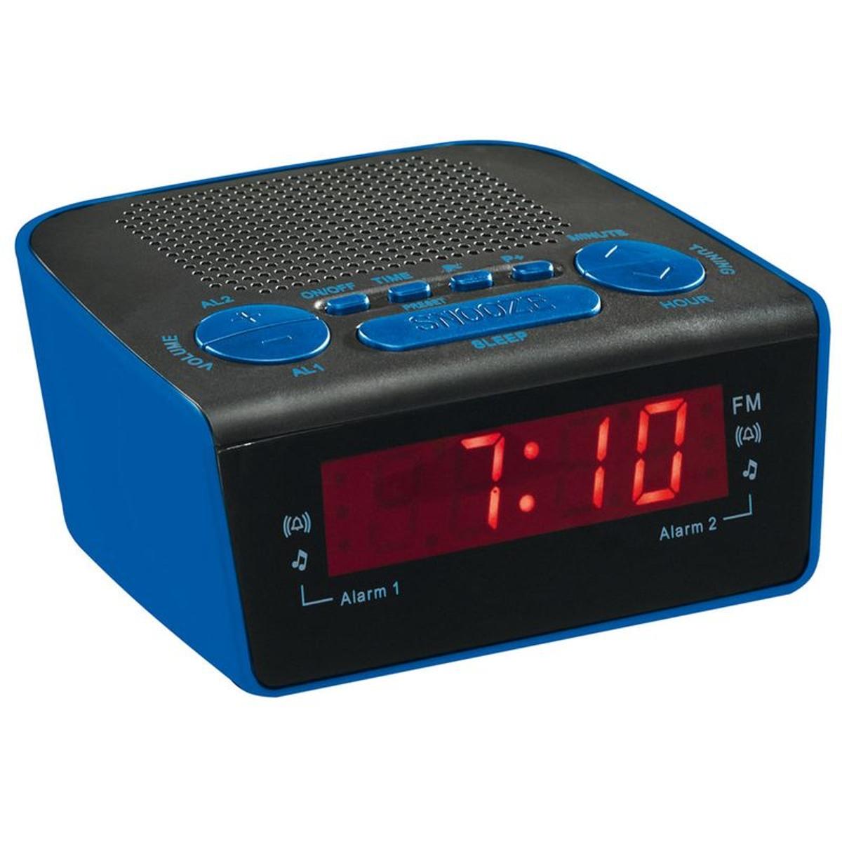 Radio réveil PLL bleu AR314B