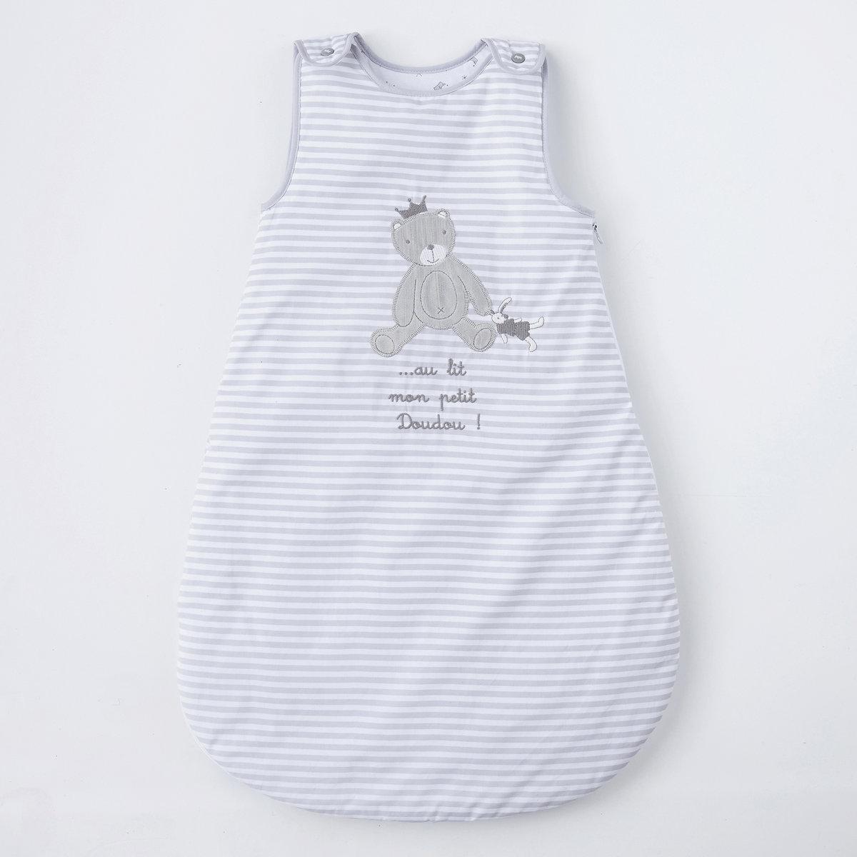 Конверт теплый для новорожденного с рисунком медвежонок из перкали, 100% хлопок от La Redoute