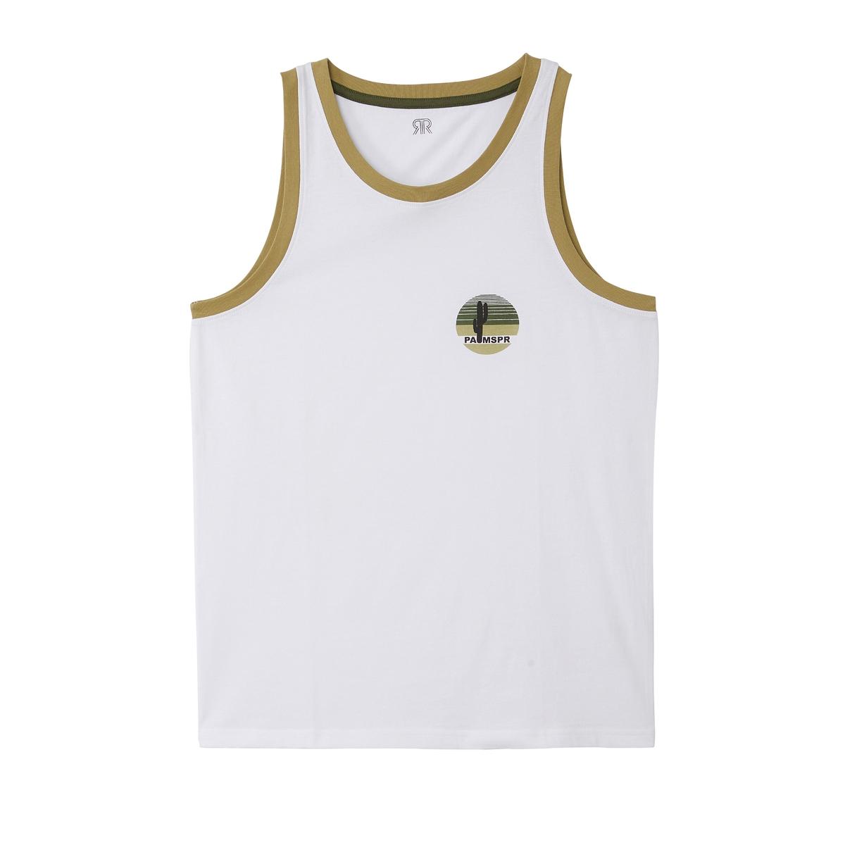 Camiseta sin mangas con cuello redondo