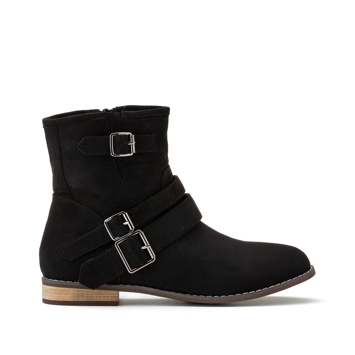 цена Ботинки La Redoute La Redoute 44 черный онлайн в 2017 году