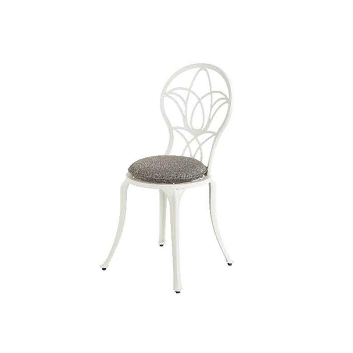 Chaise de jardin bistro saint-tropez - blanc cassé couleur unique ...