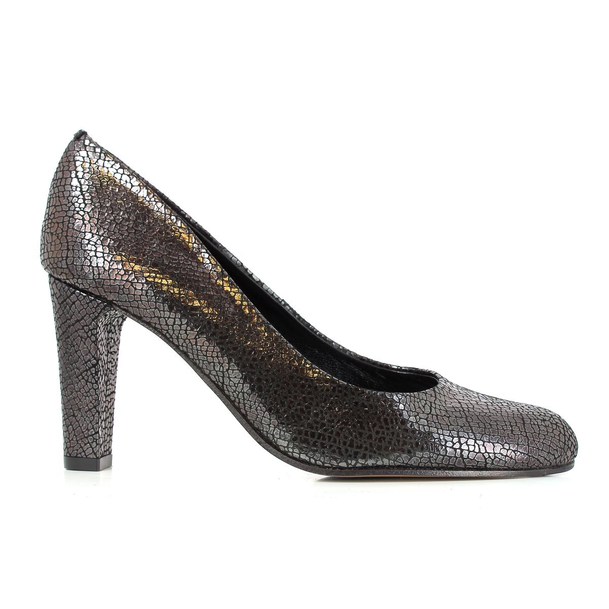 Туфли кожаные на каблуке, CLAPIS цены онлайн