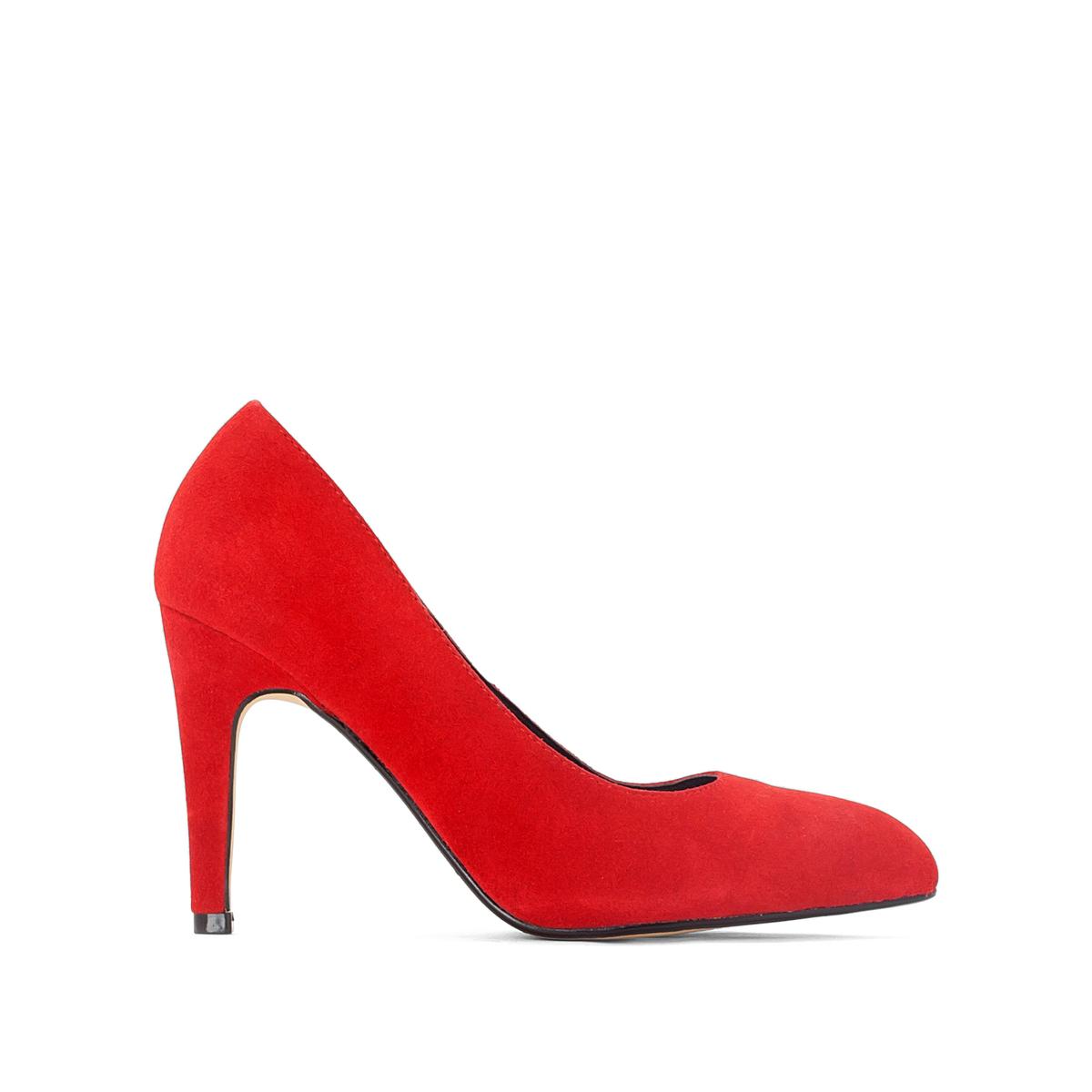 Туфли кожаные на высоком каблуке