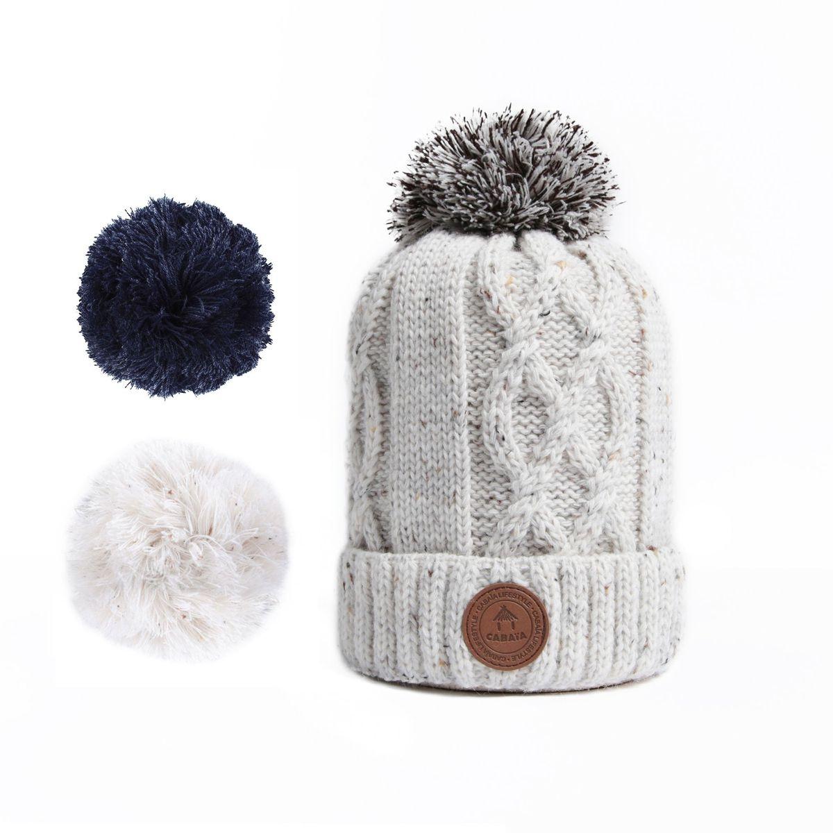 1 bonnet + 3 pompons aimantés