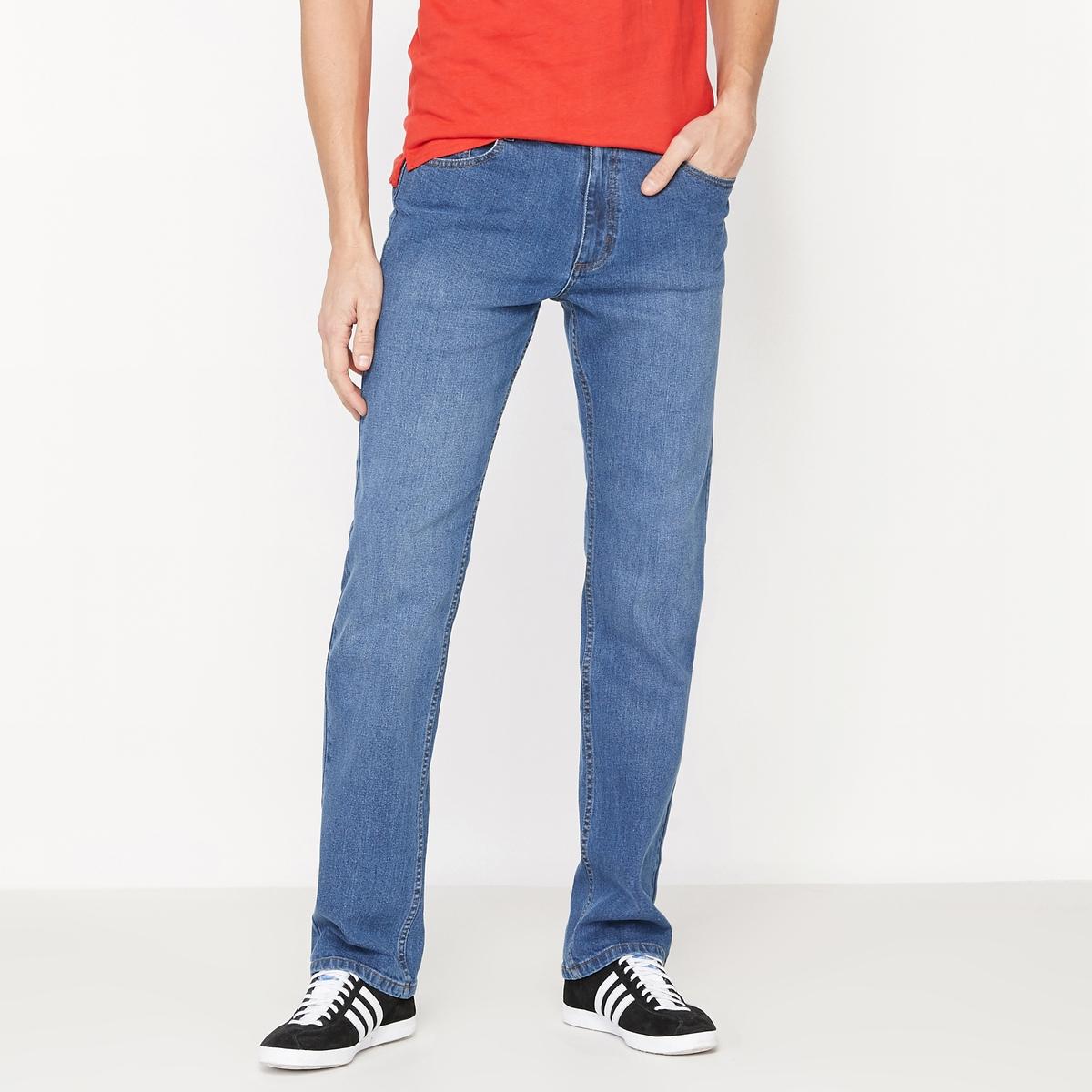 Jeans corte direito, ganga stretch