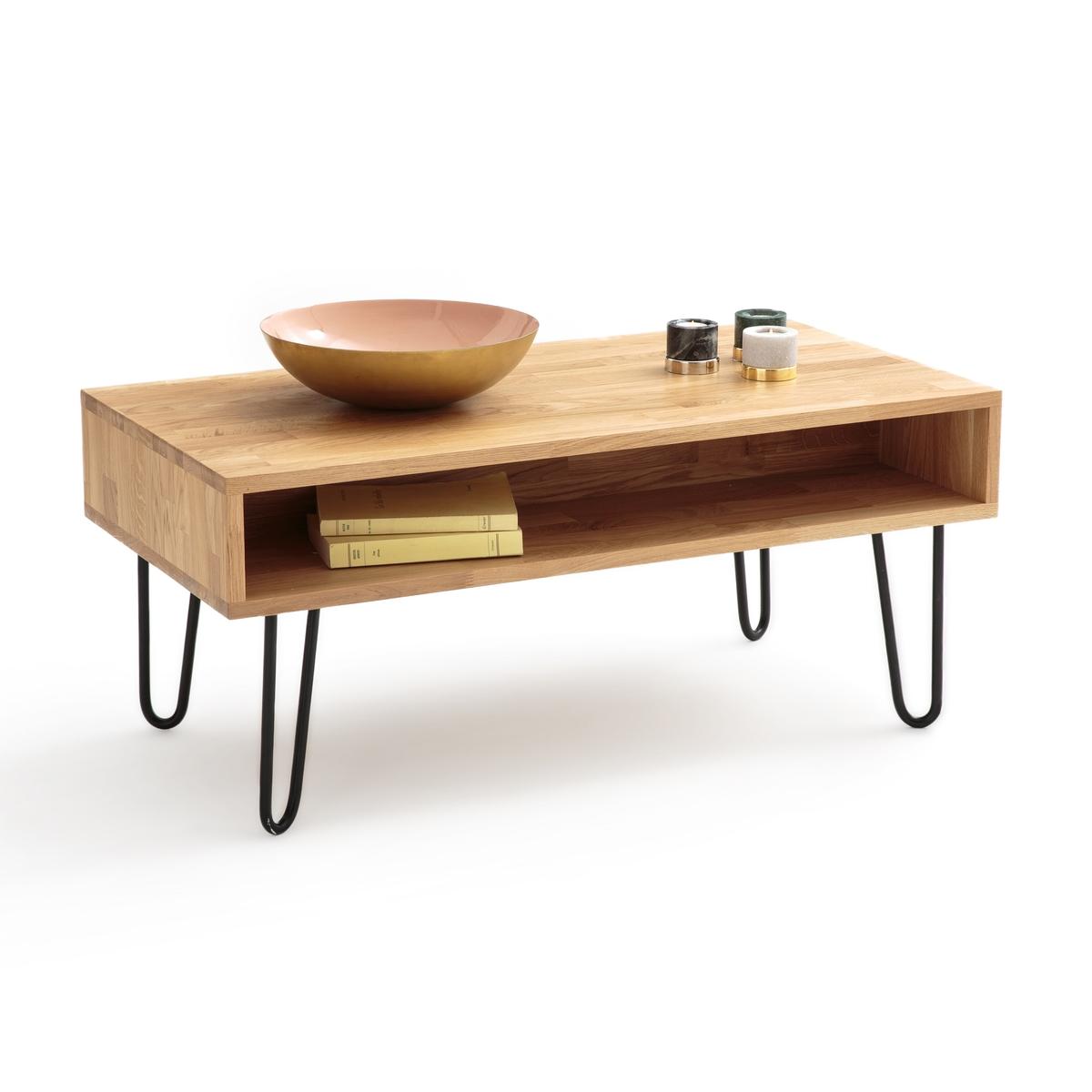Столик La Redoute Журнальный из дуба AZDA единый размер каштановый столик журнальный в винтажном стиле из обыкновенного дуба quilda