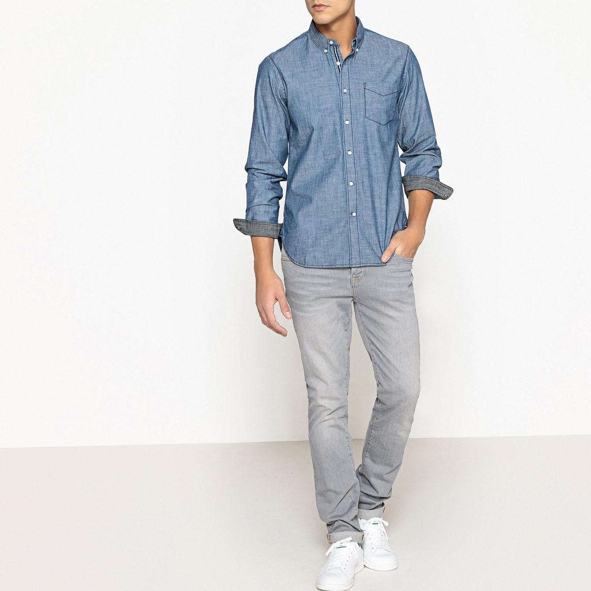 Рубашка однотонная с длинными рукавами рубашки mavango рубашка