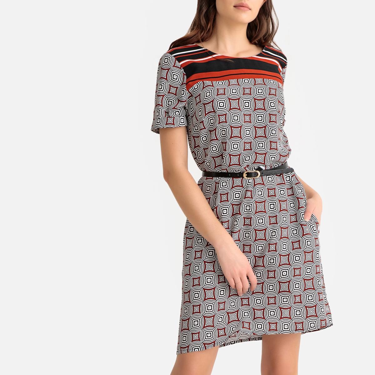 Платье-футляр La Redoute Прямого покроя длина до колен 34 (FR) - 40 (RUS) другие платье la redoute прямое с принтом до колен 48 fr 54 rus черный