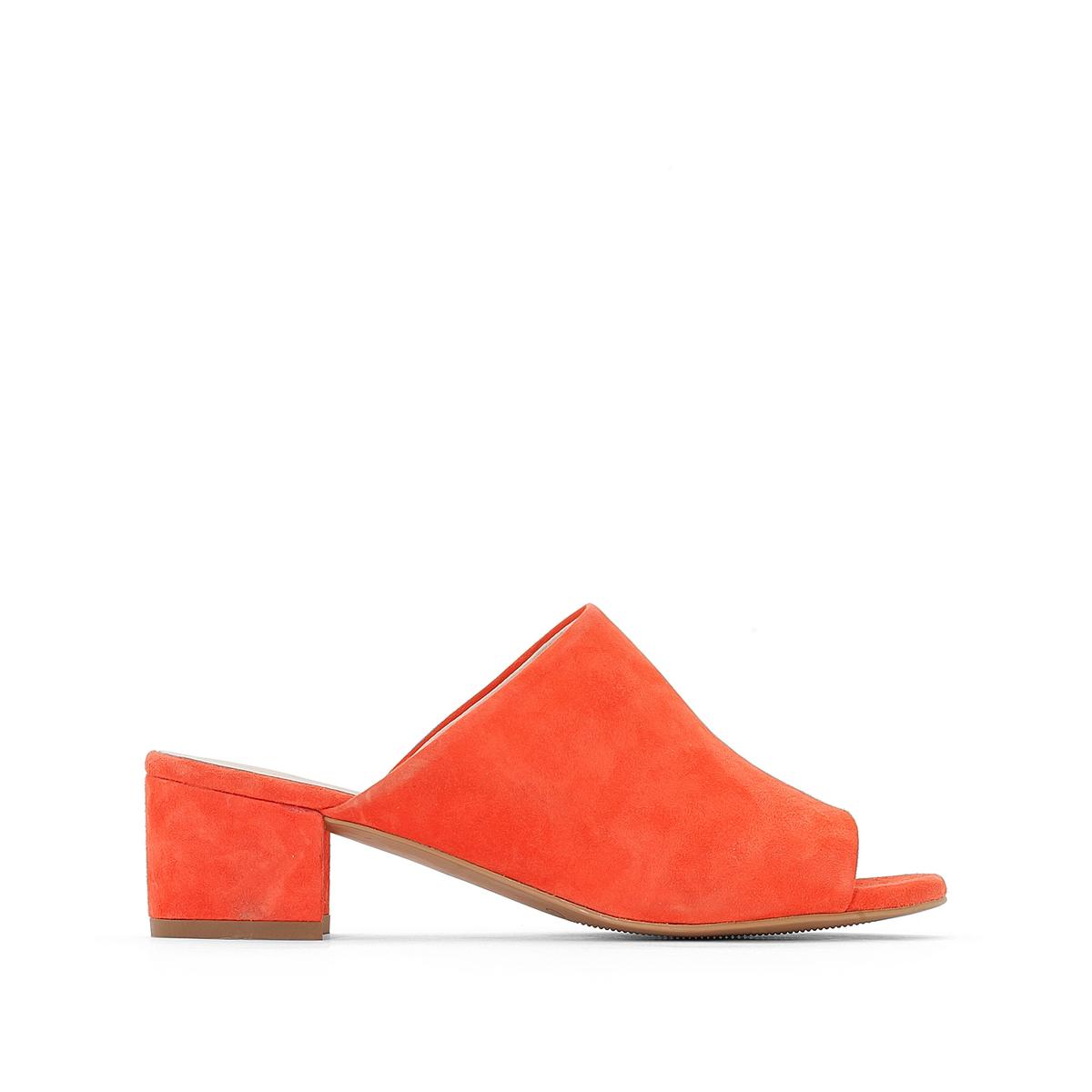 Туфли без задника на среднем каблуке