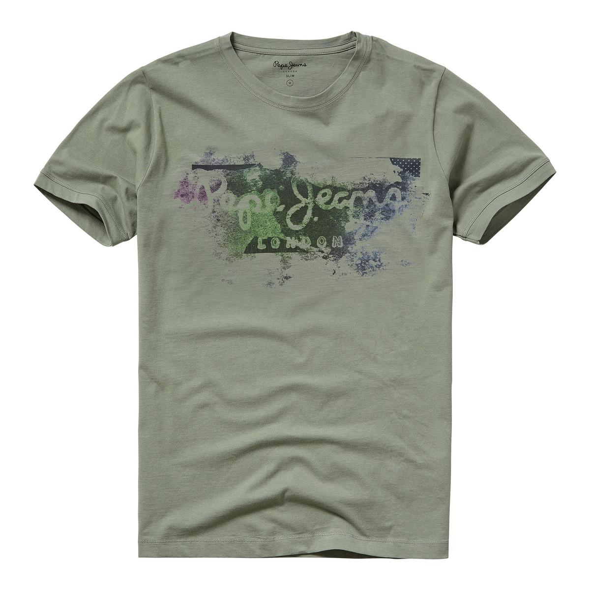 Футболка с круглым вырезом и рисунком спереди GOODGE футболка с круглым вырезом и рисунком спереди