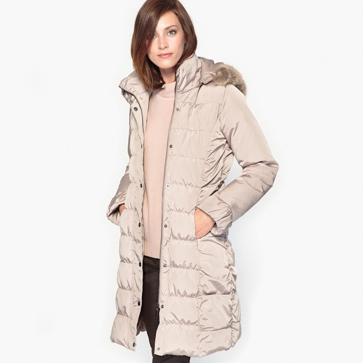 Куртка стеганая с натуральным пухом, пропитка тефлон