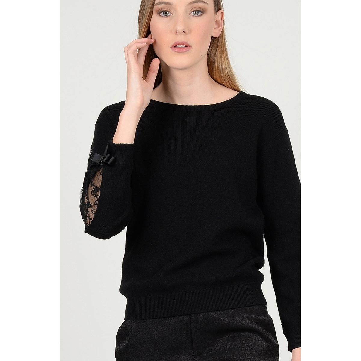 Пуловер с круглым вырезом, из тонкого трикотажа пуловер с круглым вырезом и вышивкой molly bracken