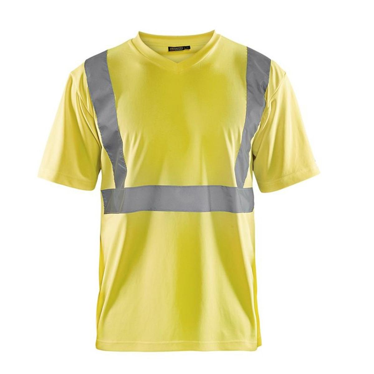 T-shirt haute visibilité  col v polyester