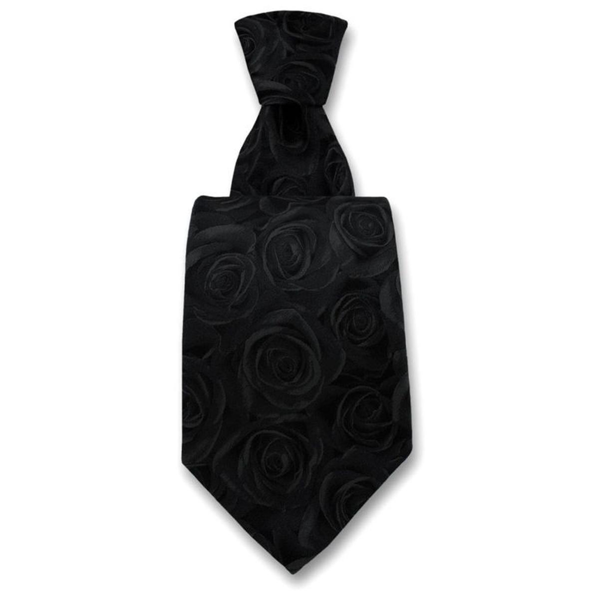 Cravate fleur de rosier. Soie Fantaisie