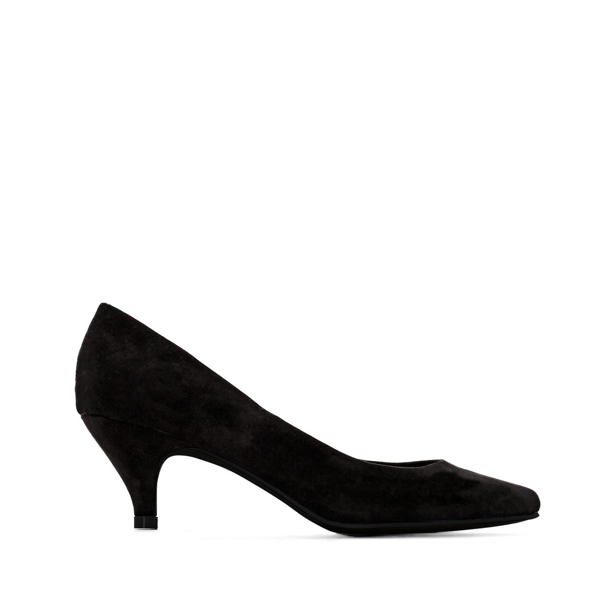 Туфли La Redoute На среднем каблуке на широкую стопу размеры - 42 черный туфли indiana туфли на среднем каблуке