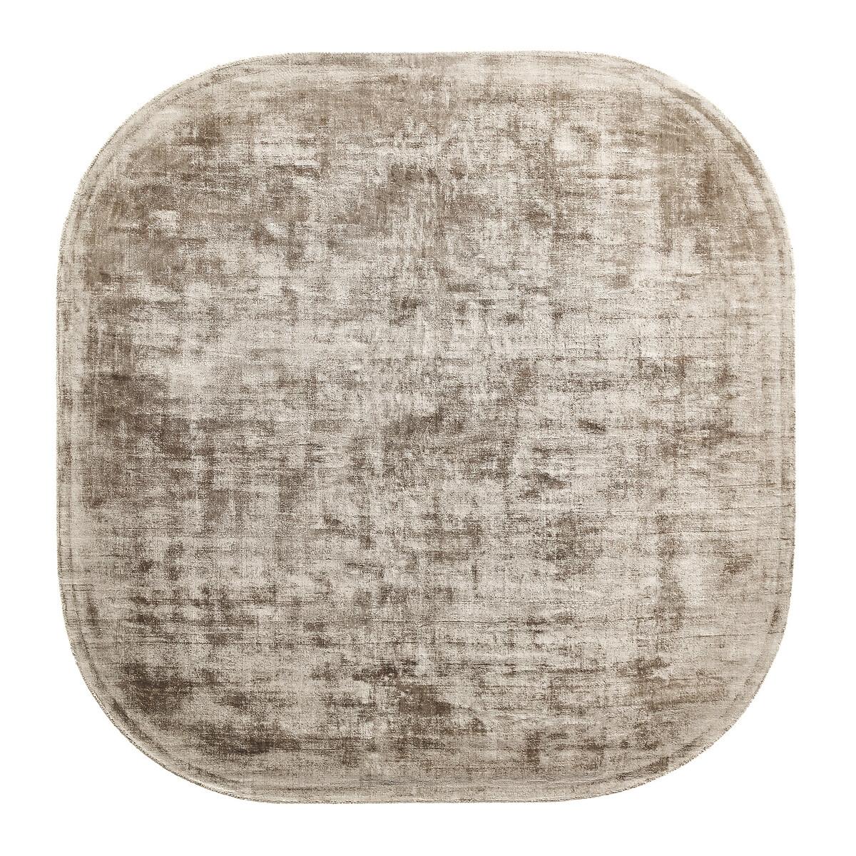 Ковер LaRedoute Квадратный связанный вручную из 100 вискозы Used единый размер бежевый
