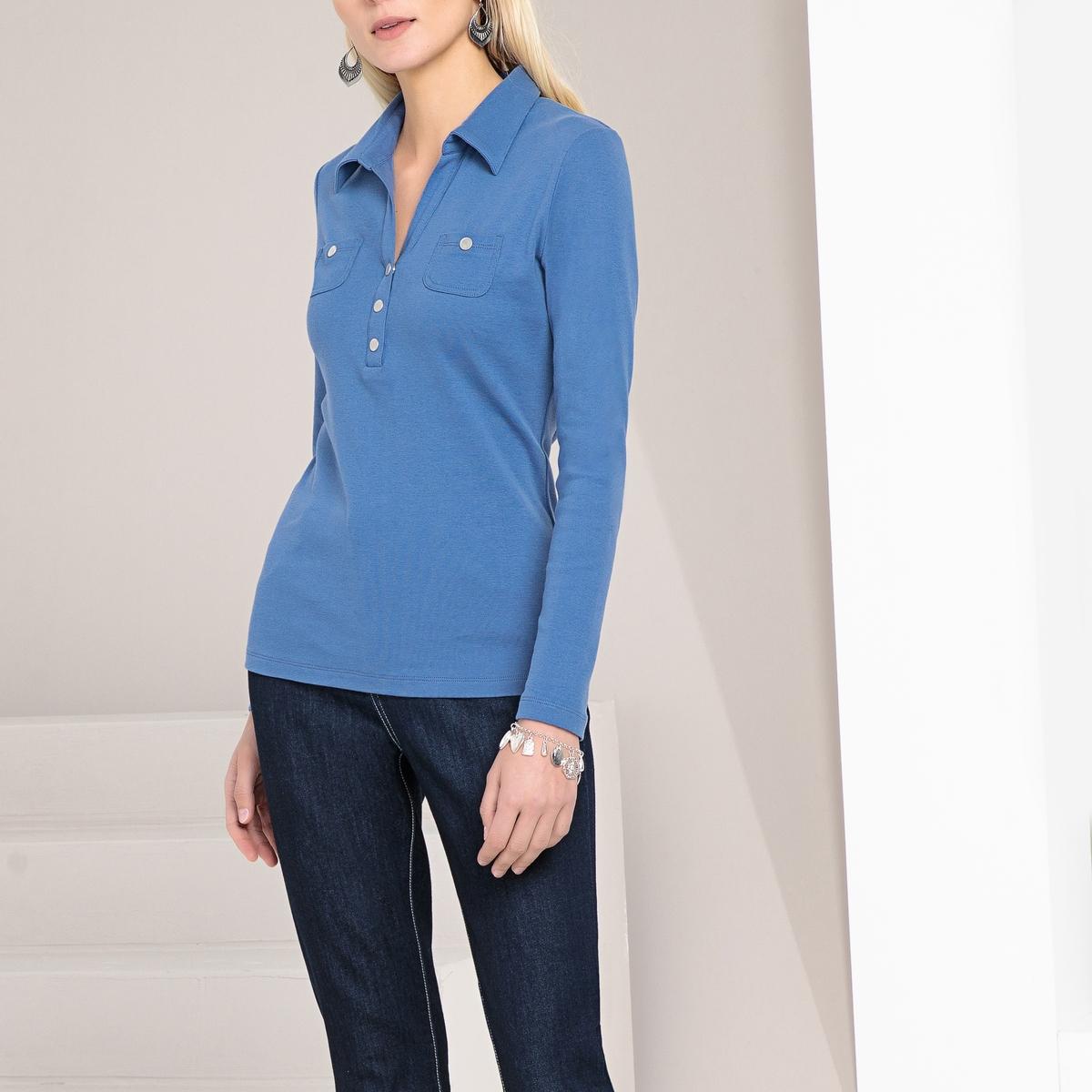 Imagen principal de producto de Camiseta con cuello polo, 100% algodón peinado - Anne weyburn
