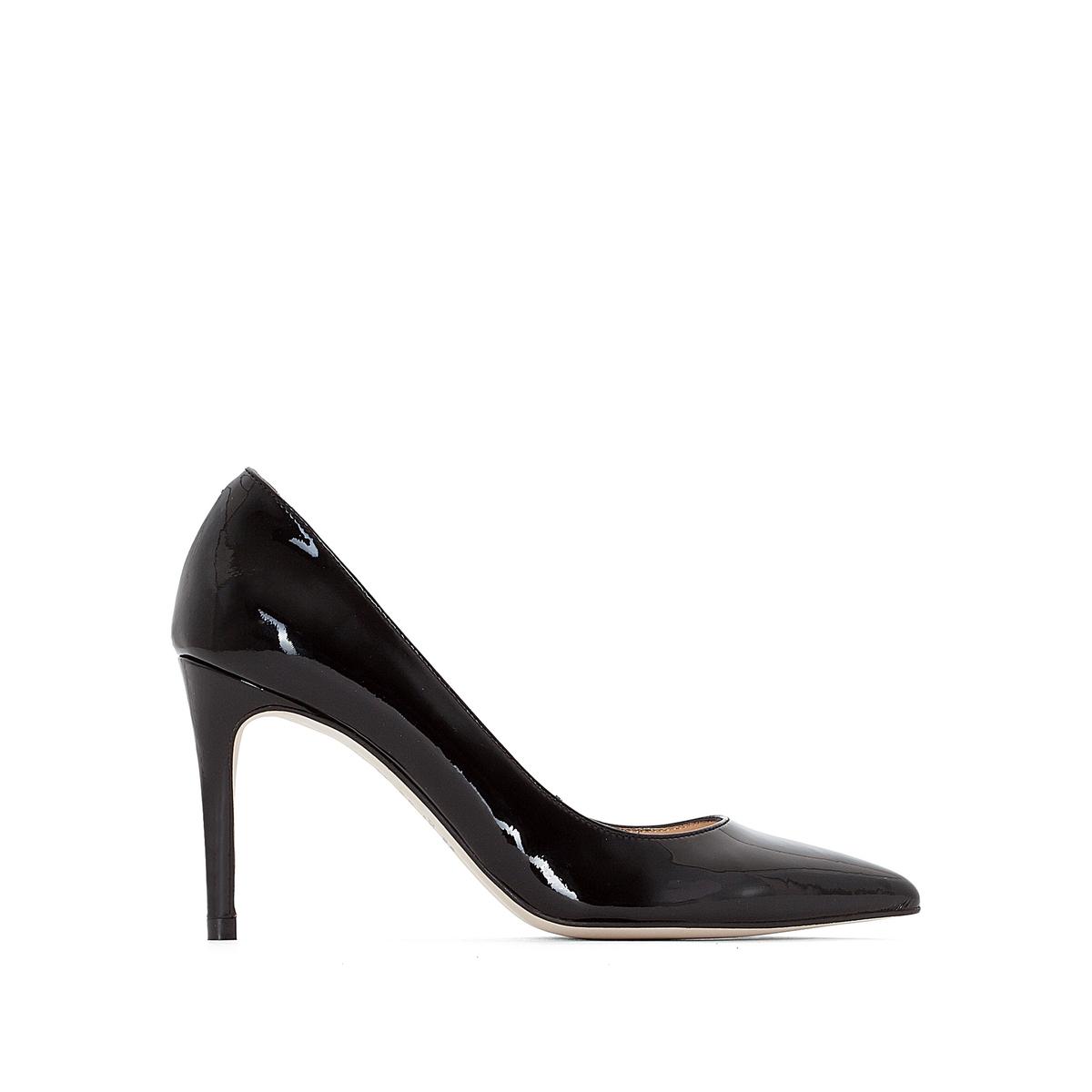 Туфли кожаные лакированные AlaricВерх : Кожа.   Подкладка : Кожа.   Стелька : Кожа.   Подошва : эластомер   Высота каблука : 8 см   Форма каблука : шпилька   Мысок : заостренный мысок     Застежка : без застежки<br><br>Цвет: красный лак,Черный лак