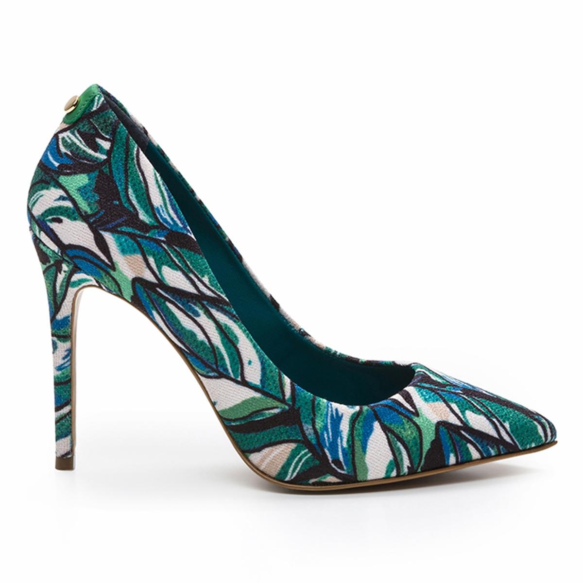 Туфли кожаные на каблуке-шпильке Makea Tropical