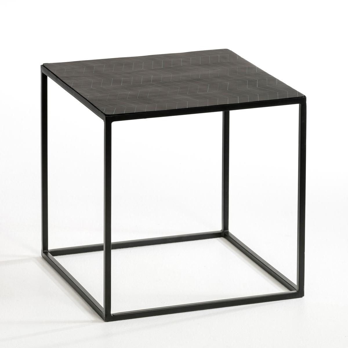 Столик журнальный ElrosЖурнальный столик или низкий мини столик, или прикроватный столик ...- Столешница из пластика черного цвета .- Каркас из металла .- Размер. 40 x 40 x 40 см .<br><br>Цвет: черный