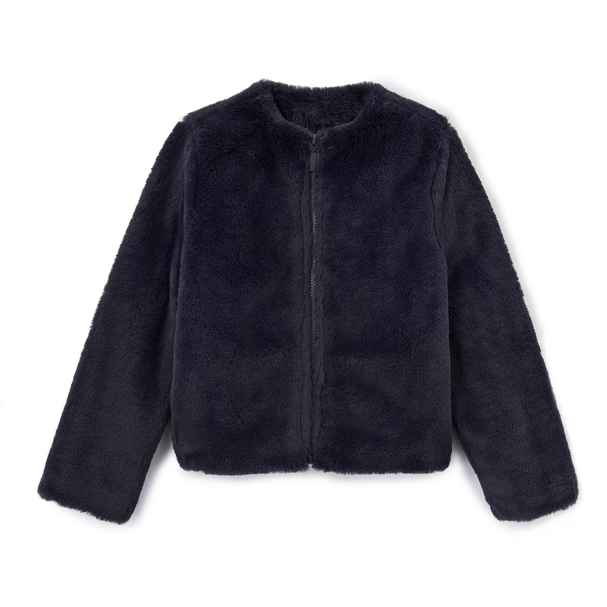 Пальто из искусственного меха 3-12 лет