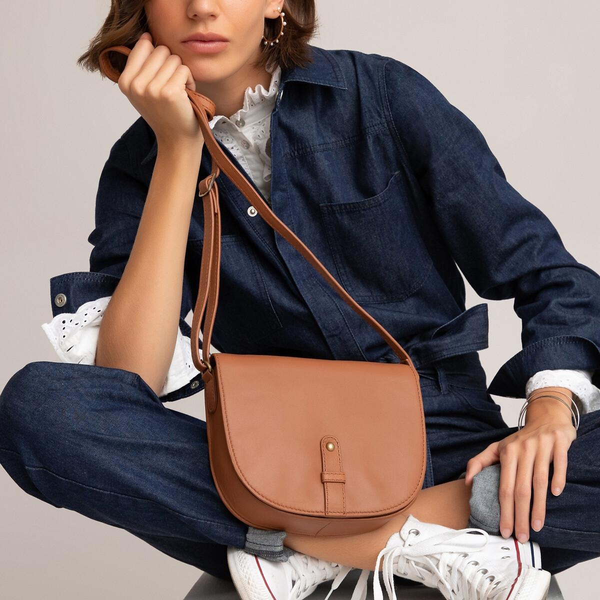Фото - Сумка-шоппер LaRedoute Маленькая из кожи единый размер каштановый 12storeez сумка рюкзак из кожи маленькая