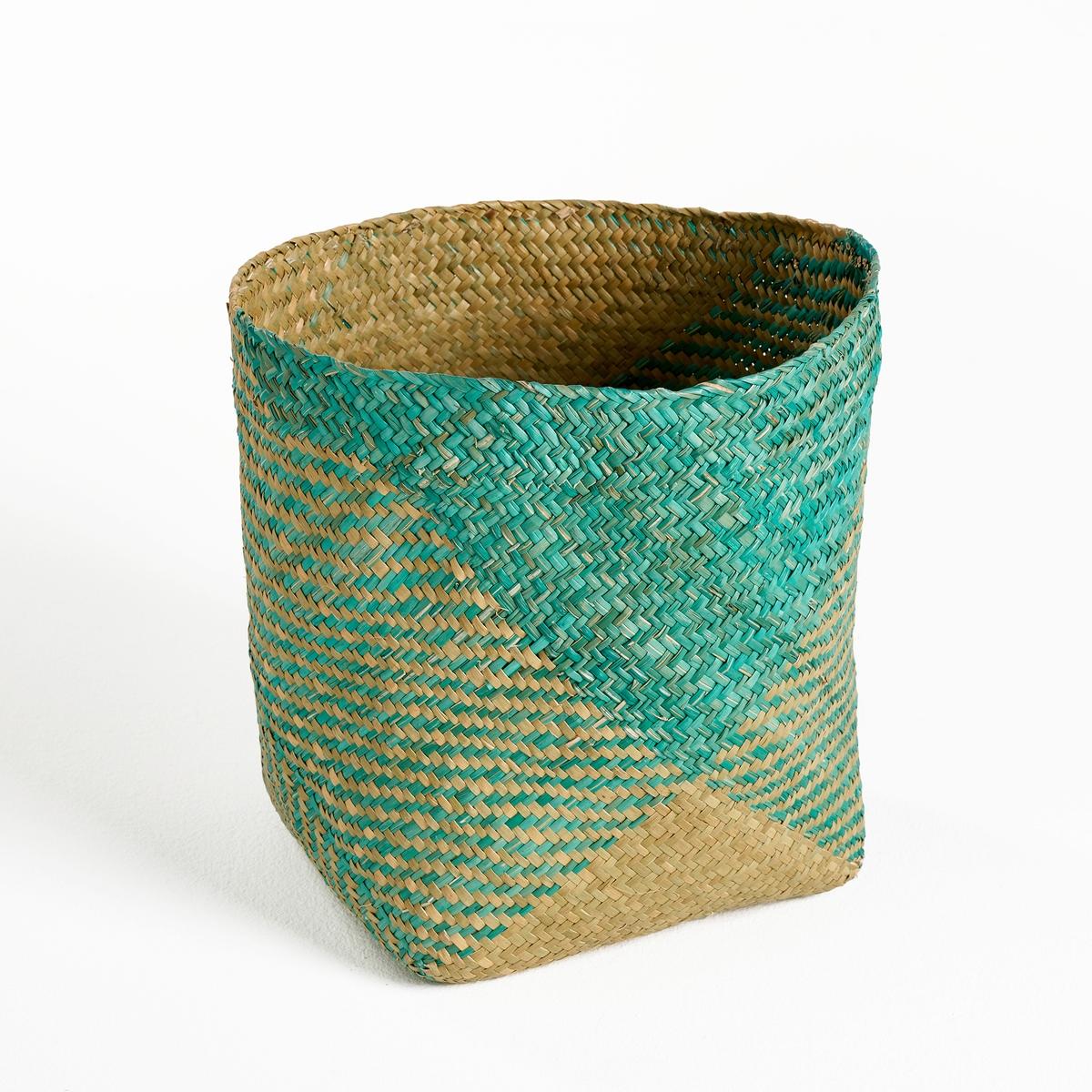 Корзина плетеная HABBUОписание:Корзина с гармоничным плетением подойдит для различных целей .Описание корзины Habbu :Небольшая корзина в форме ведра из гербария, плетеная .Геометрический рисунок.Откройте для себя всю коллекцию декора на сайте laredoute.ruРазмеры корзины Habbu : 24 x 24 см Высота 26 см<br><br>Цвет: зеленый/серо-бежевый,розовый/серо-бежевый