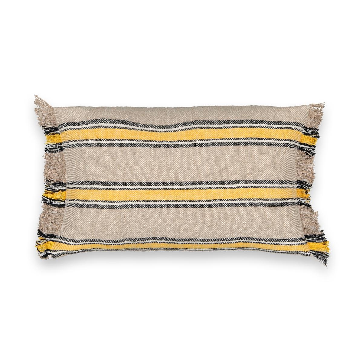 Чехол La Redoute На подушку-валик Anusha 50 x 50 см желтый льняной la redoute чехол для подушки georgette 50 x 30 см желтый