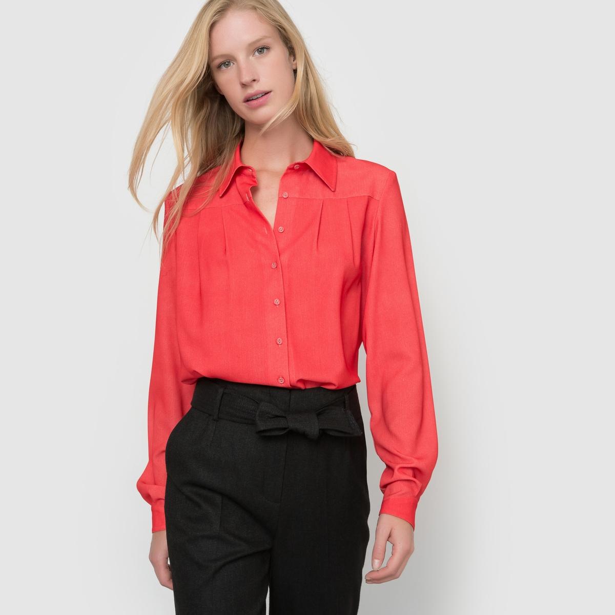 Рубашка легкая с длинными рукавамиСостав и описание :Длина : 66 см.Материал : 97% полиэстера, 3% эластанаМарка : atelier R.Уход– стирать при 30 °C с вещами схожих цветов– стирать и гладить с изнанки.<br><br>Цвет: красный,черный<br>Размер: 42 (FR) - 48 (RUS).44 (FR) - 50 (RUS)